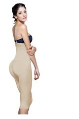 Strapless below the knee body shaper-Vedette- Nude