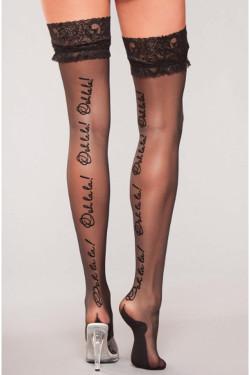 black thigh high hosiery