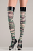 Camouflage thigh high pantyhose