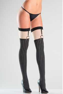 Faux Suspender thigh high stockings
