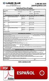 Employment Application Spanish