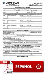 Employment Application Spanish