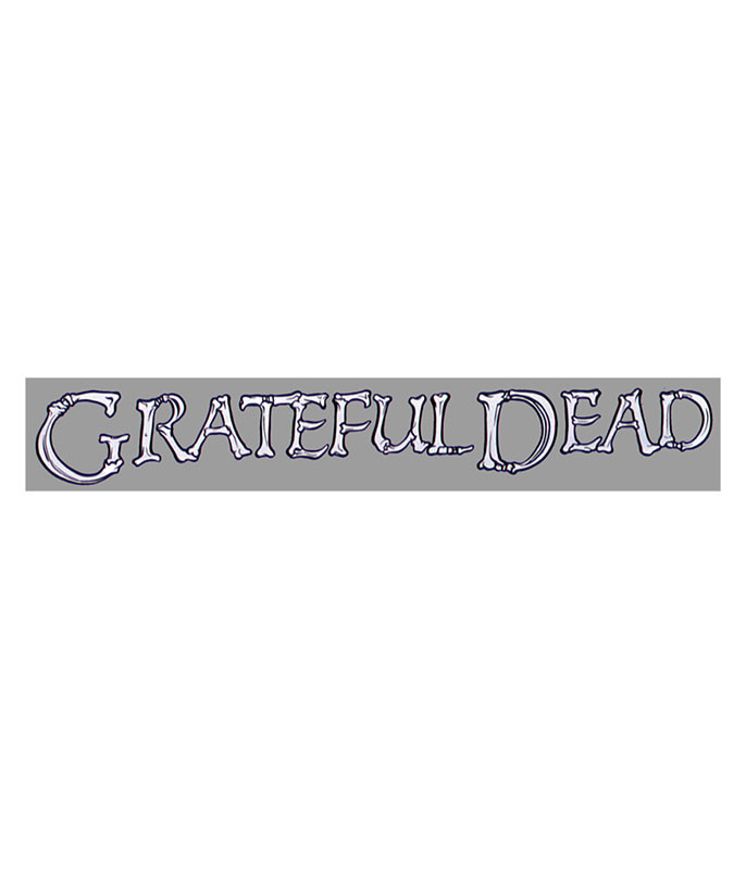Grateful Dead Bonz Strip Sticker Liquid Blue