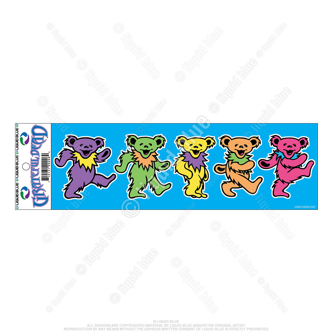 Dancing Bears 3 Inch Sticker