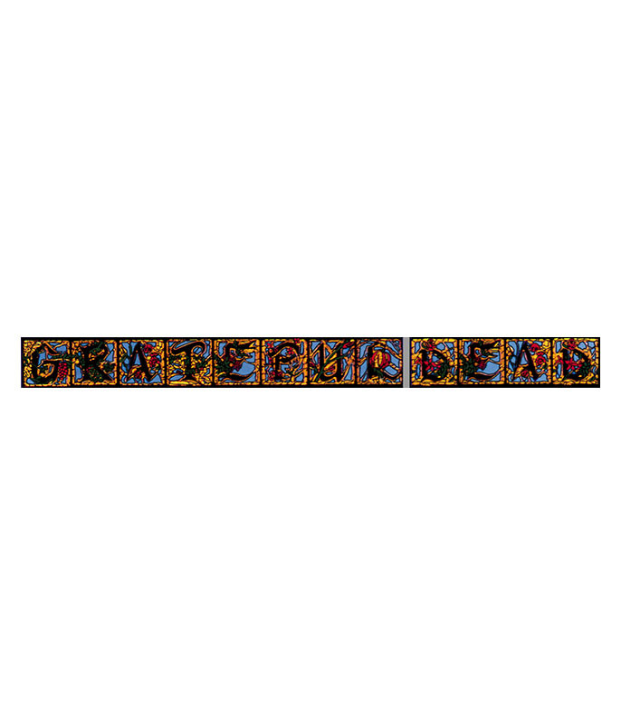 Grateful Dead Stained Glass Sticker Liquid Blue