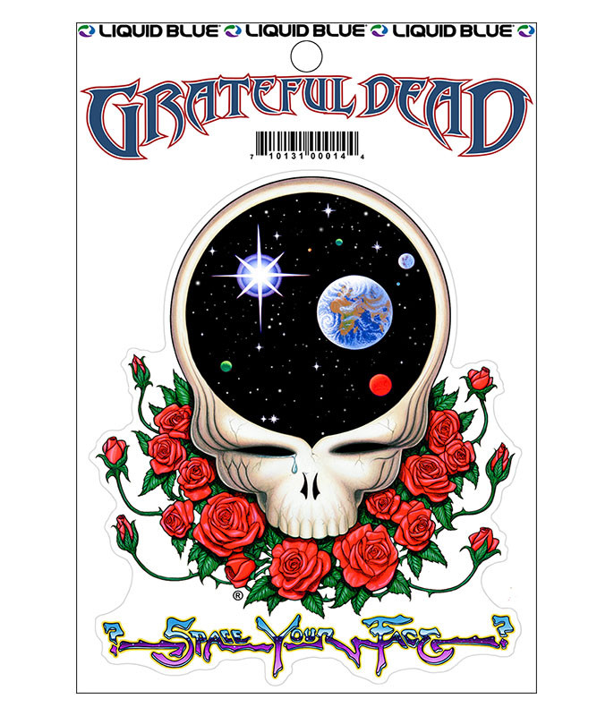 Grateful Dead Space Your Face Sticker Liquid Blue