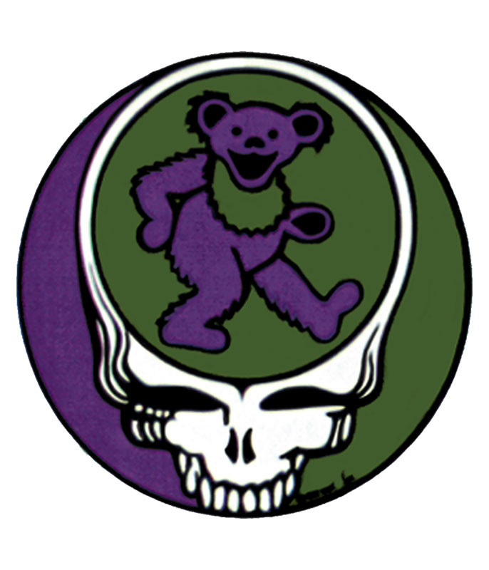 Grateful Dead Steal Your Bear Sticker Liquid Blue