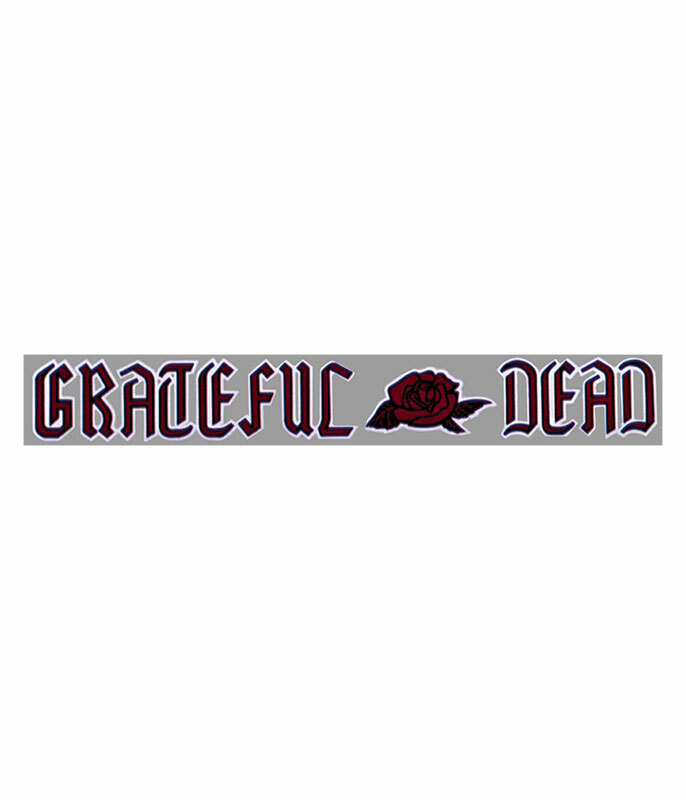 Grateful Dead Dead Rose Sticker Liquid Blue