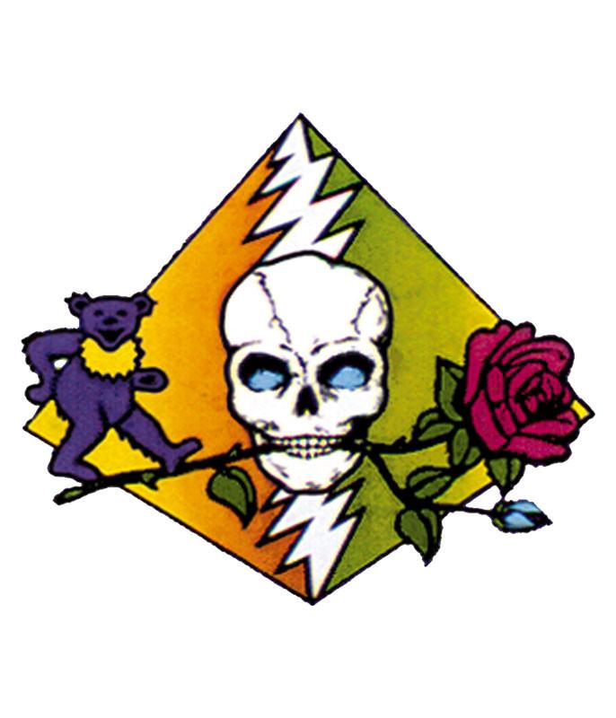Grateful Dead Dead Pyramid Sticker Liquid Blue