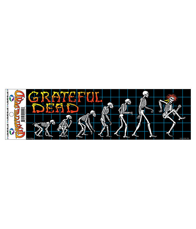 Grateful Dead Evolution Sticker Liquid Blue