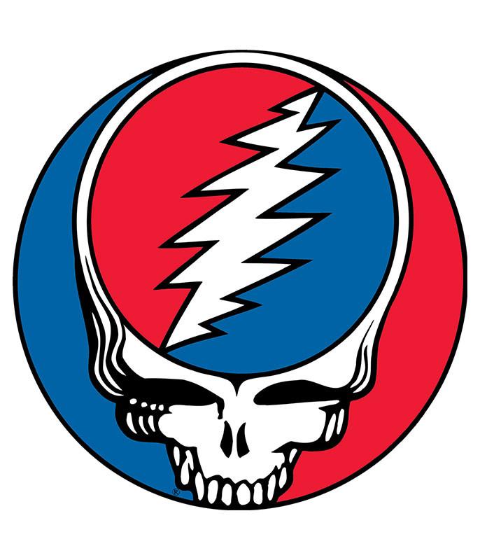 Grateful Dead Steal Your Face Sticker Liquid Blue