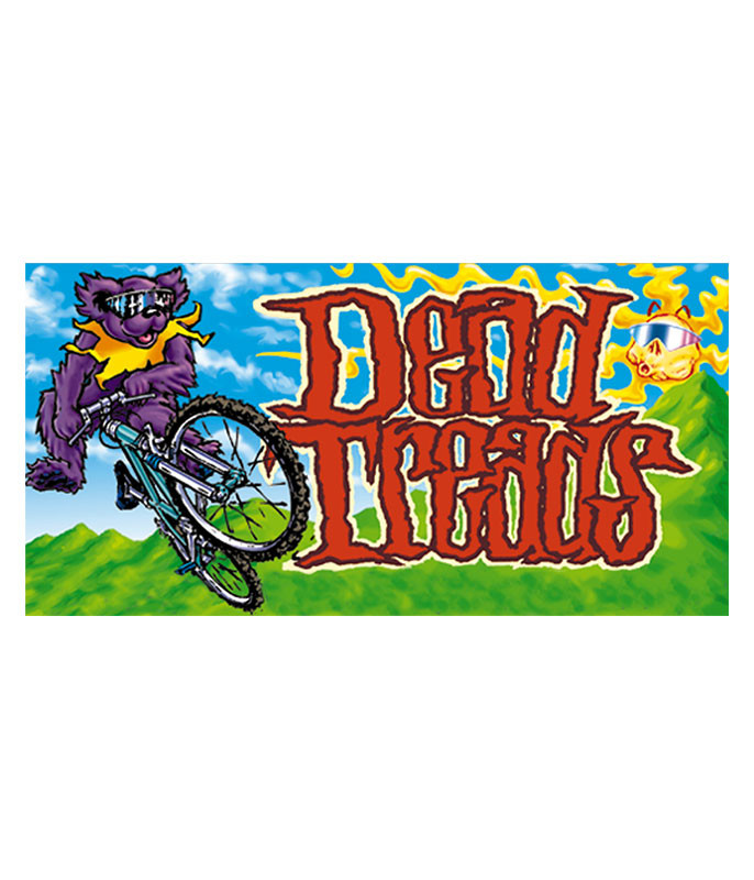 Grateful Dead Dead Treads Sticker Liquid Blue