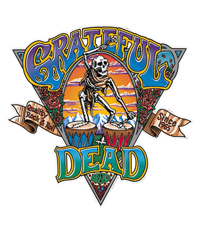 Grateful Dead Dead Brand Sticker Liquid Blue