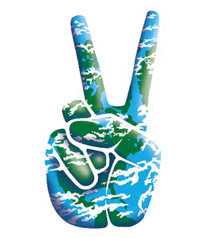 World Peace Sticker Liquid Blue