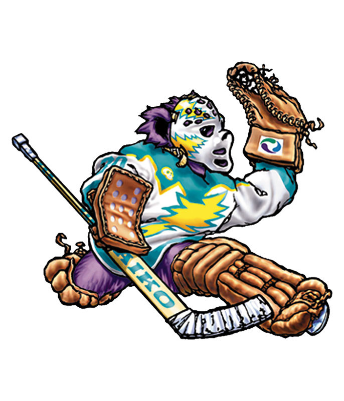 Grateful Dead Hockey Bear Sticker Liquid Blue
