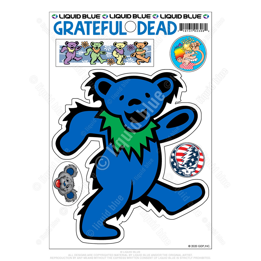 Blue Bear Diecut Sticker