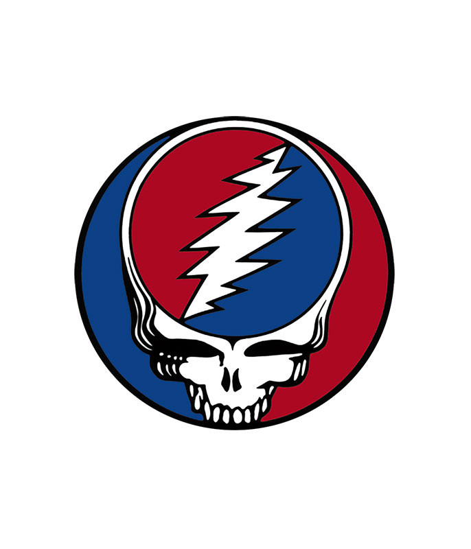 Grateful Dead Steal Your Face 5 in. Window Sticker Liquid Blue