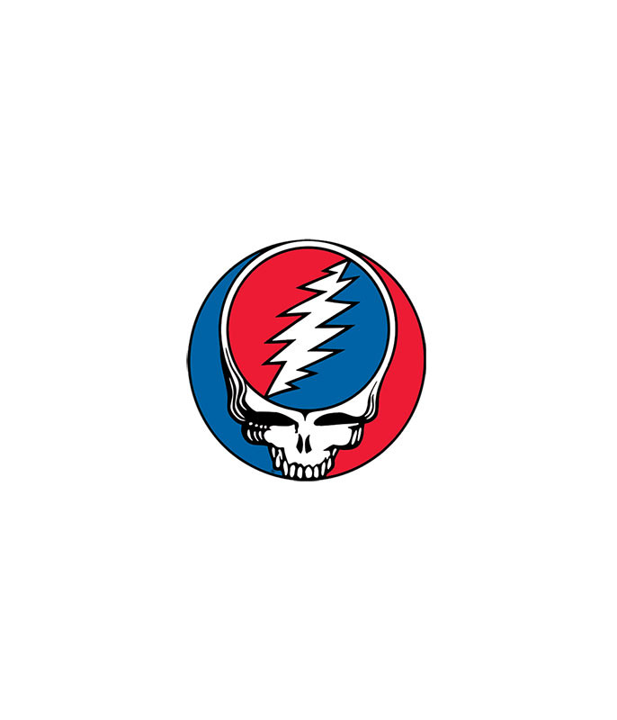 Grateful Dead Steal Your Face 1.5 in. Mylar Sticker Liquid Blue