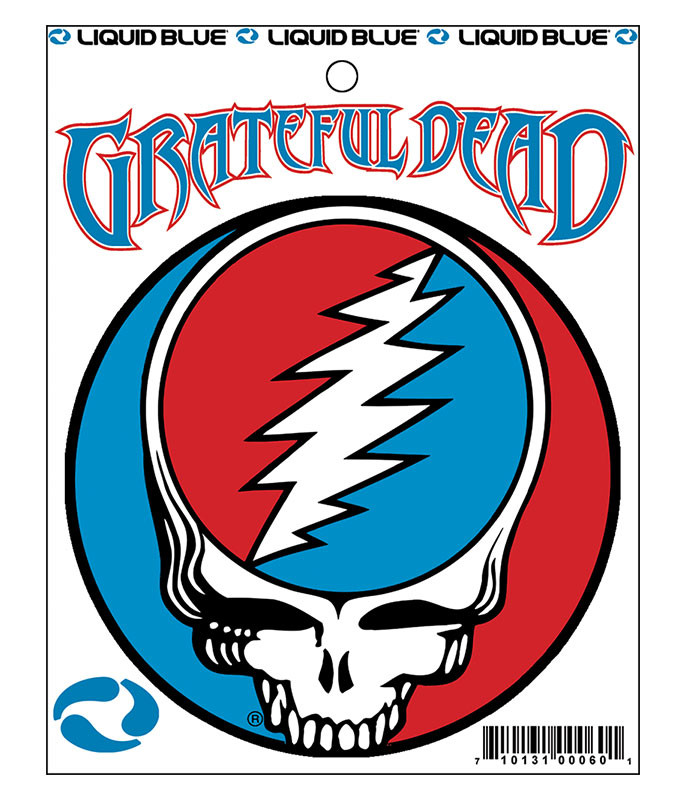 Grateful Dead Steal Your Face 3 in. Mylar Sticker Liquid Blue