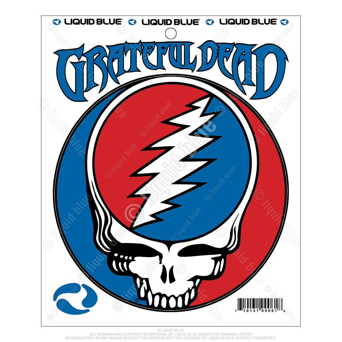 Steal Your Face 5 Inch Mylar Sticker