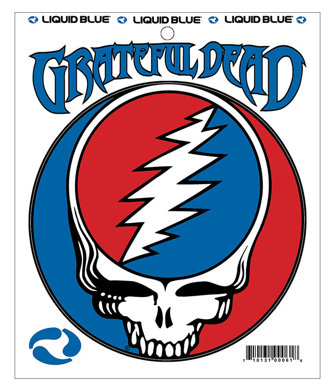 Grateful Dead Steal Your Face 5 in. Mylar Sticker Liquid Blue