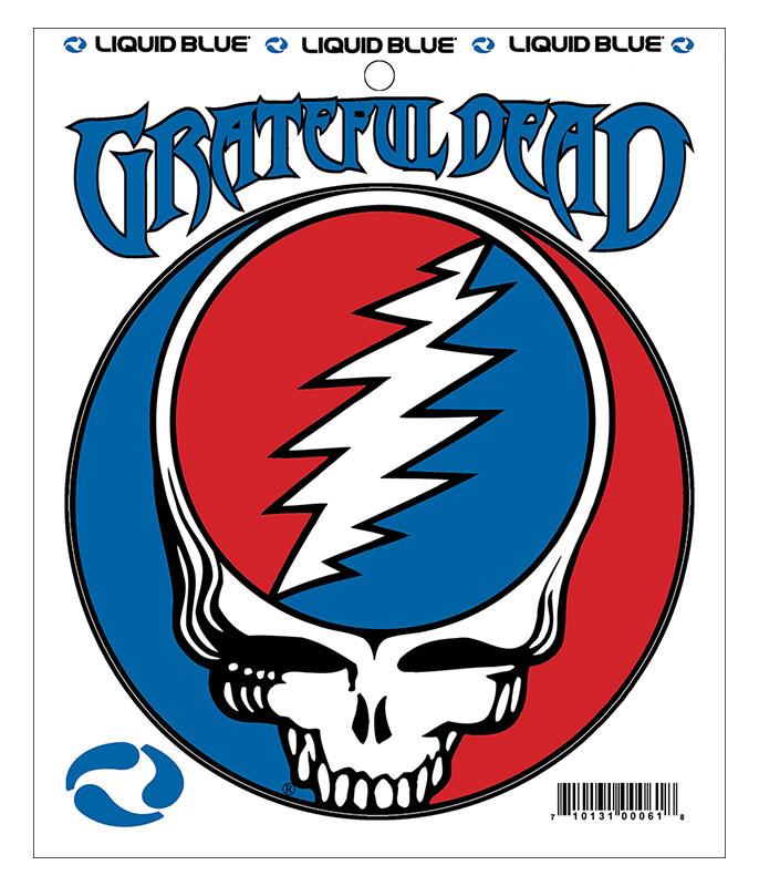 Grateful Dead Steal Your Face 5 in. Mylar Sticker Liquid Blue
