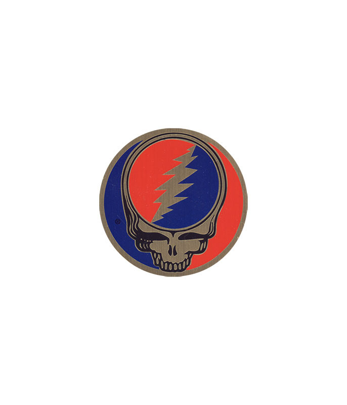 Grateful Dead Steal Your Face 1 in. Metal Sticker Liquid Blue