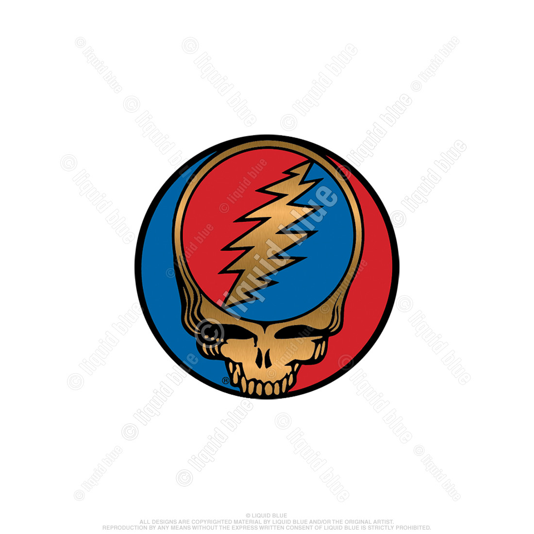 Steal Your Face 1.5 Inch Metallic Sticker