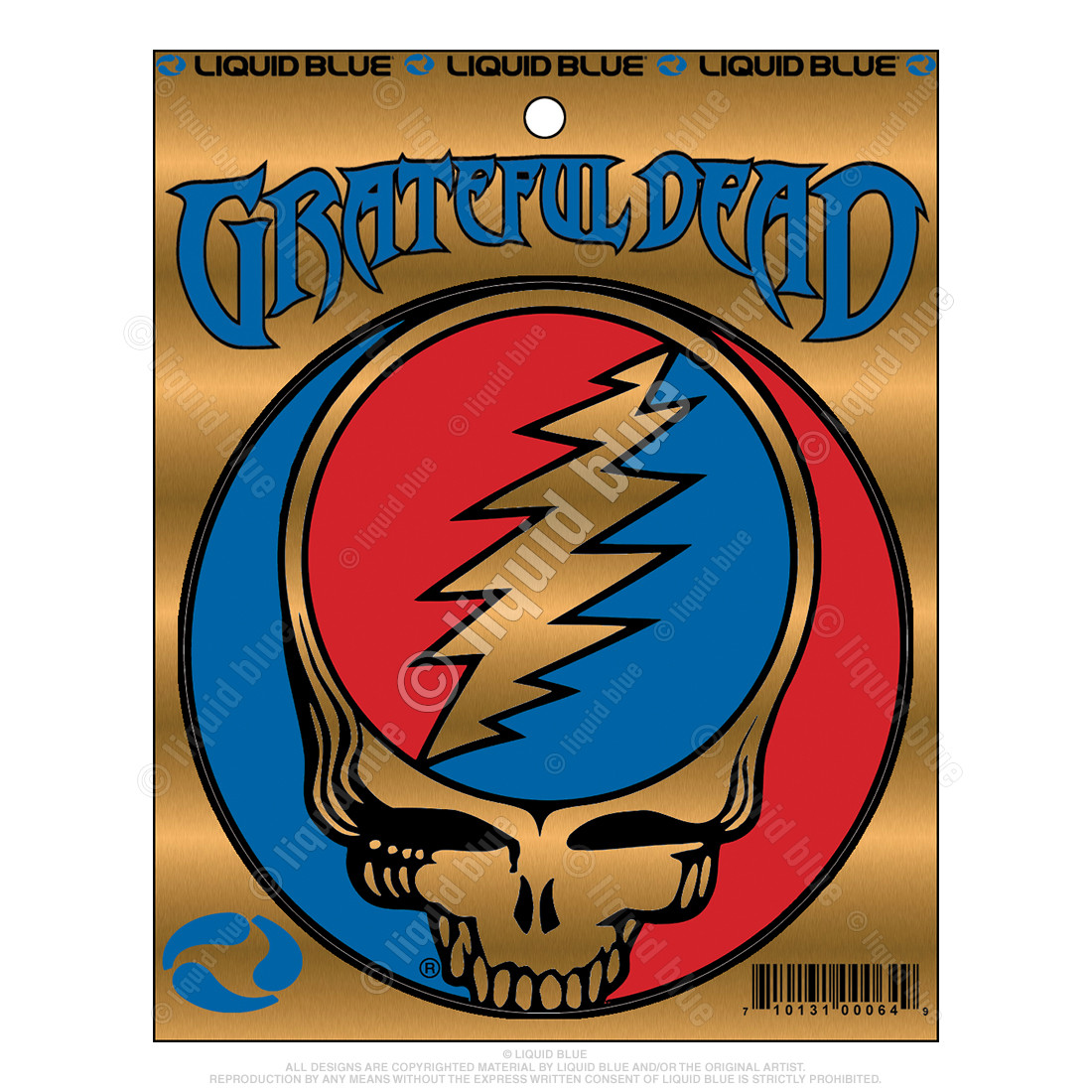 Steal Your Face 3 Inch Metallic Sticker