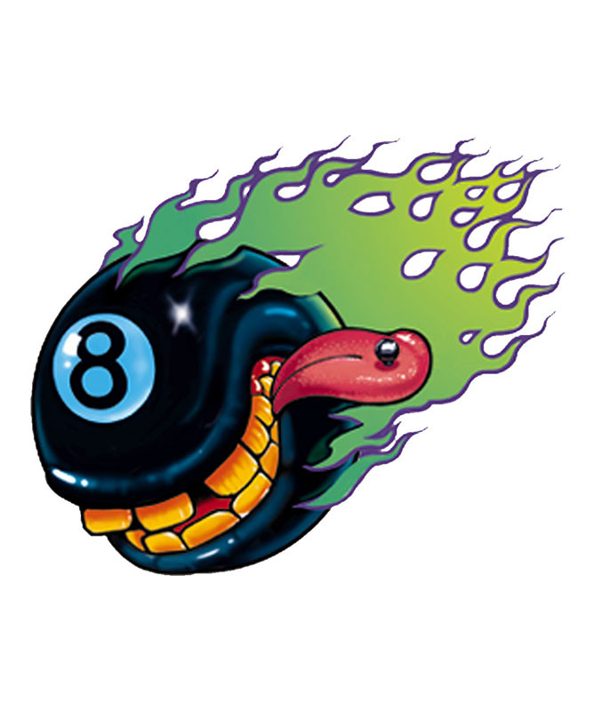CRAZY 8 BALL STICKER