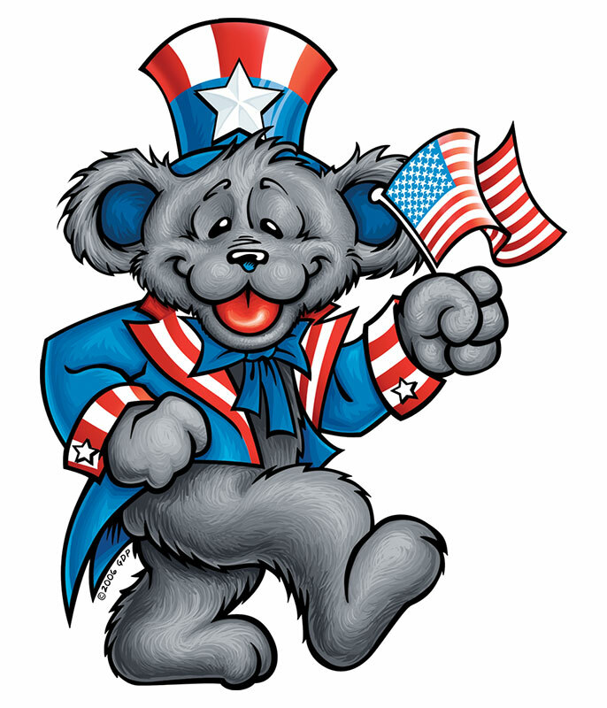 Patriot Bear Sticker