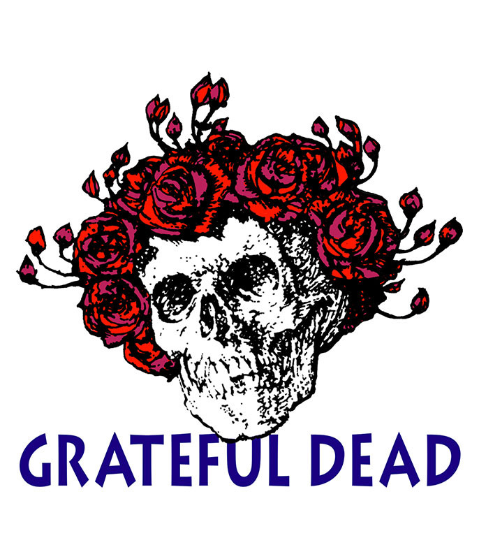 Grateful Dead Bertha Sticker Liquid Blue