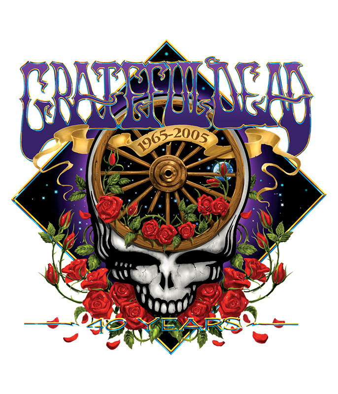 Grateful Dead 40th Anniversary Sticker Liquid Blue