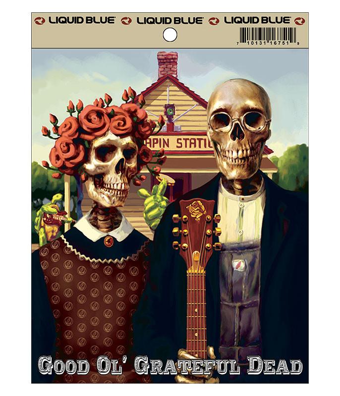 Grateful Dead Grateful Gothic Sticker Liquid Blue