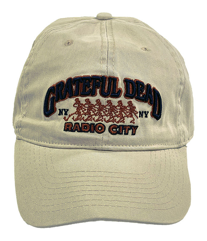 Grateful Dead Radio City 80 Stone Hat Liquid Blue
