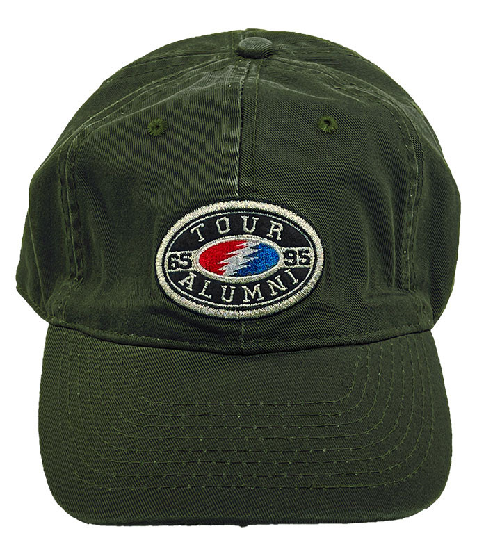 Grateful Dead Tour Alumni Bolt Olive Hat Liquid Blue