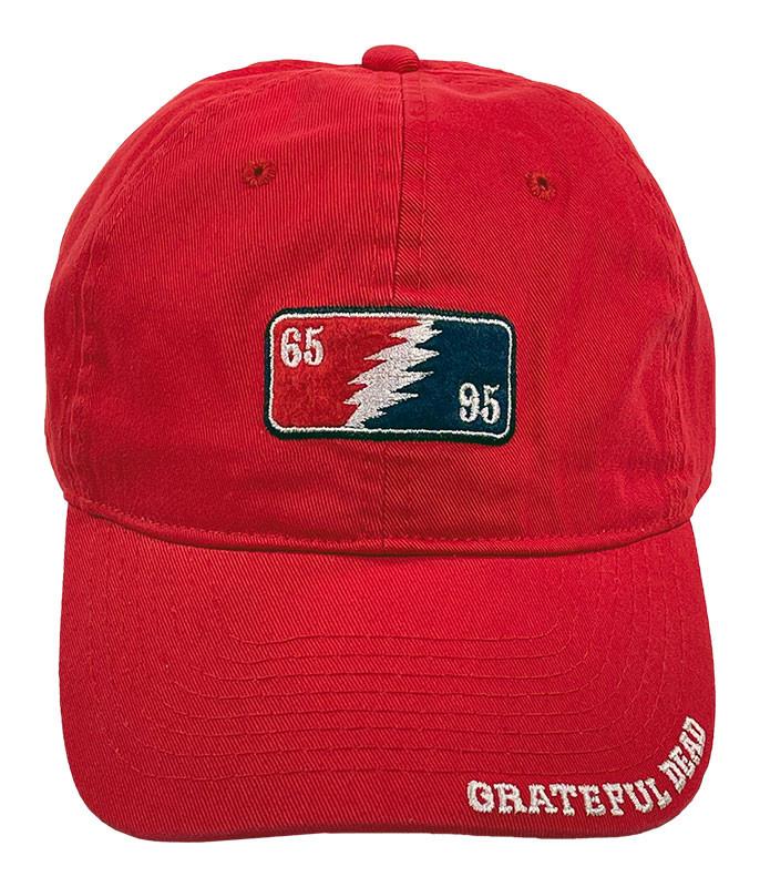 Grateful Dead GD 65-95 Red Hat Liquid Blue