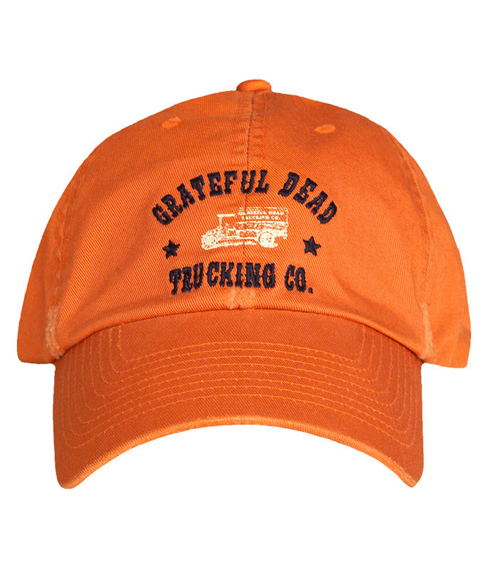 Grateful Dead GD Trucking Hat Orange Hat Liquid Blue