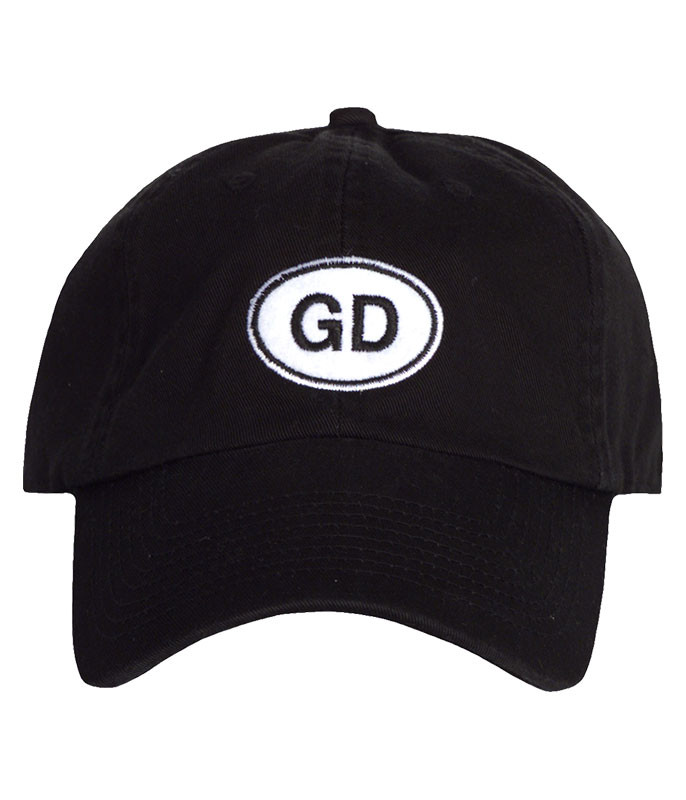 Grateful Dead GD Oval Black Hat Liquid Blue