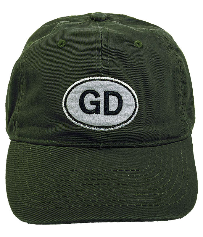 Grateful Dead Oval Green Hat Liquid Blue