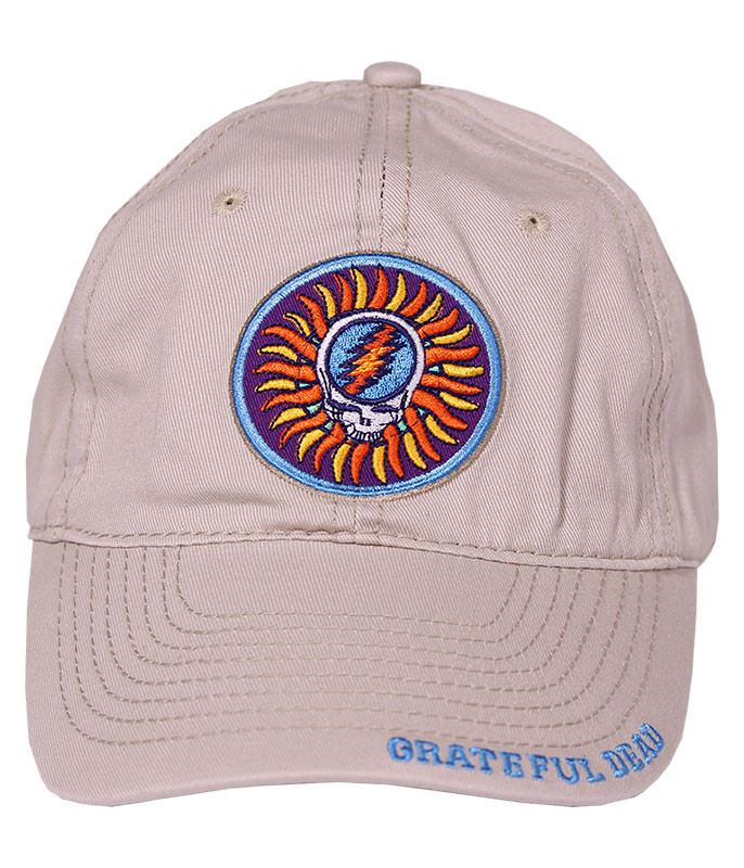 Grateful Dead Steal Your Face Sun Stone Hat Liquid Blue