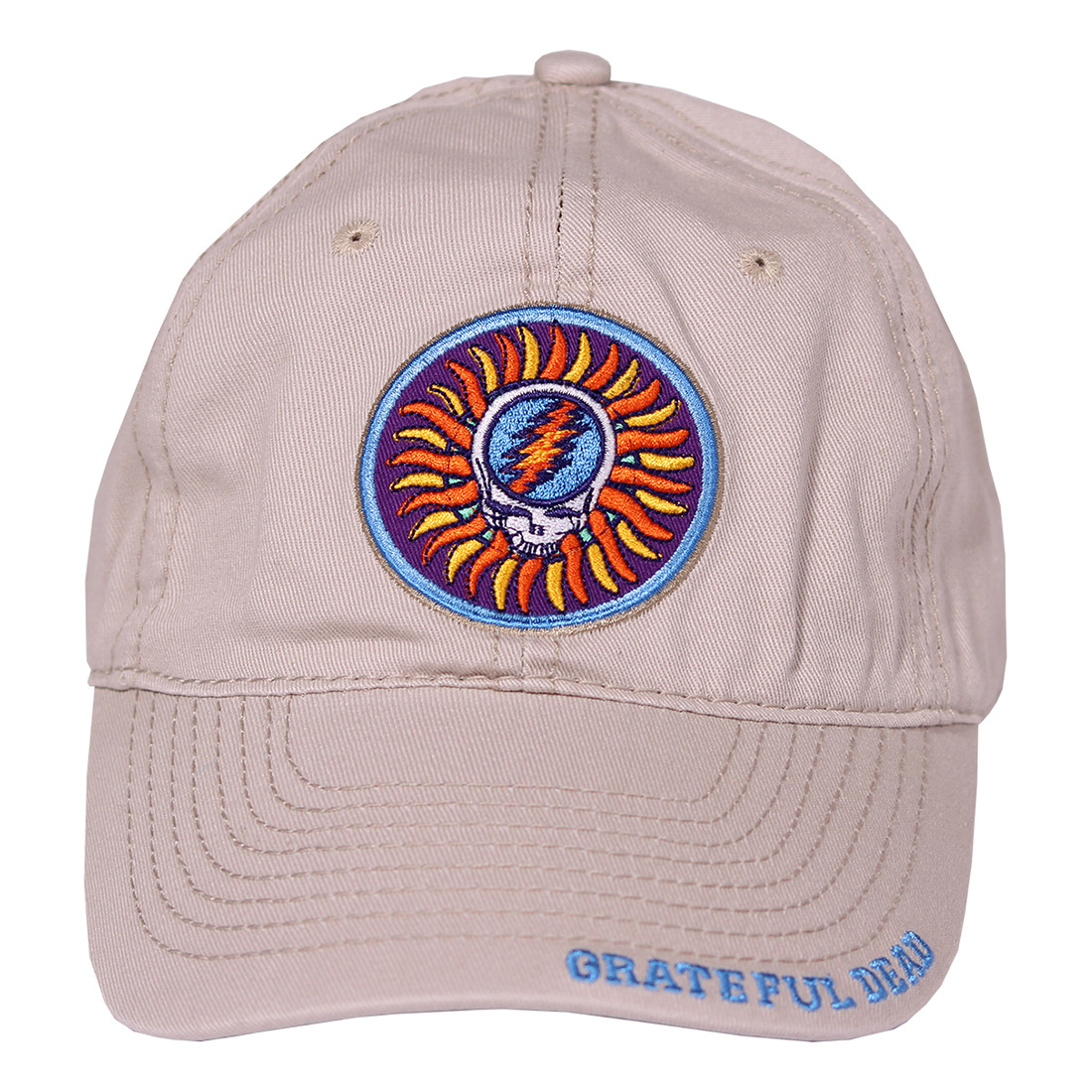 Grateful Dead Steal Your Face Sun Stone Hat Liquid Blue 6e3a956f147