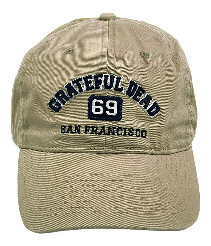 Grateful Dead San Francisco 69 Khaki Hat Liquid Blue