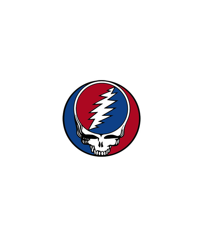 Grateful Dead Steal Your Face 1.5 in. Window Sticker Liquid Blue