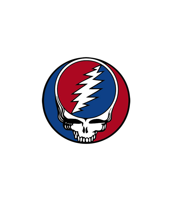 Grateful Dead Steal Your Face 3 in. Window Sticker Liquid Blue