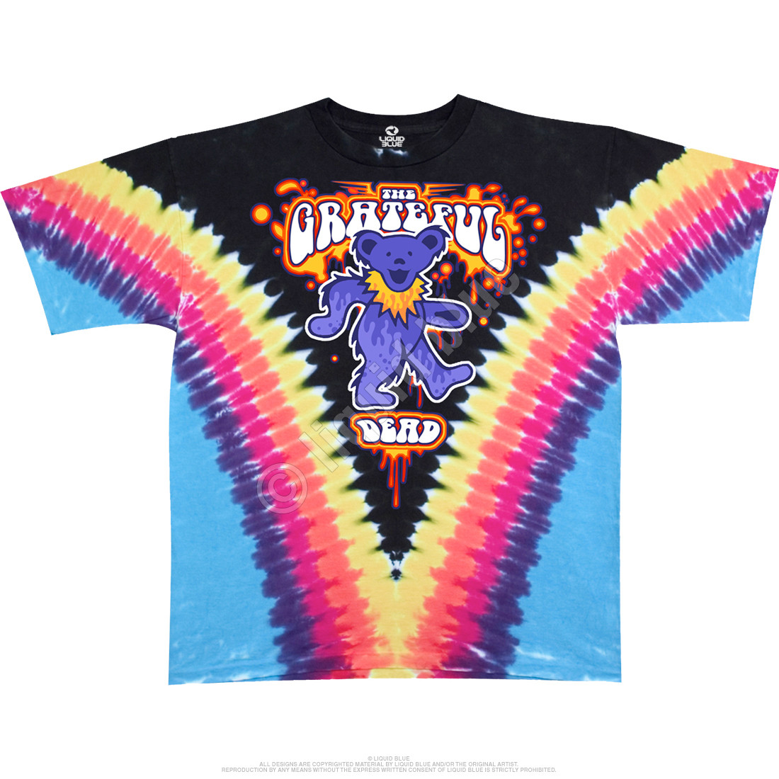 Liquid Bear V Tie-Dye T-Shirt