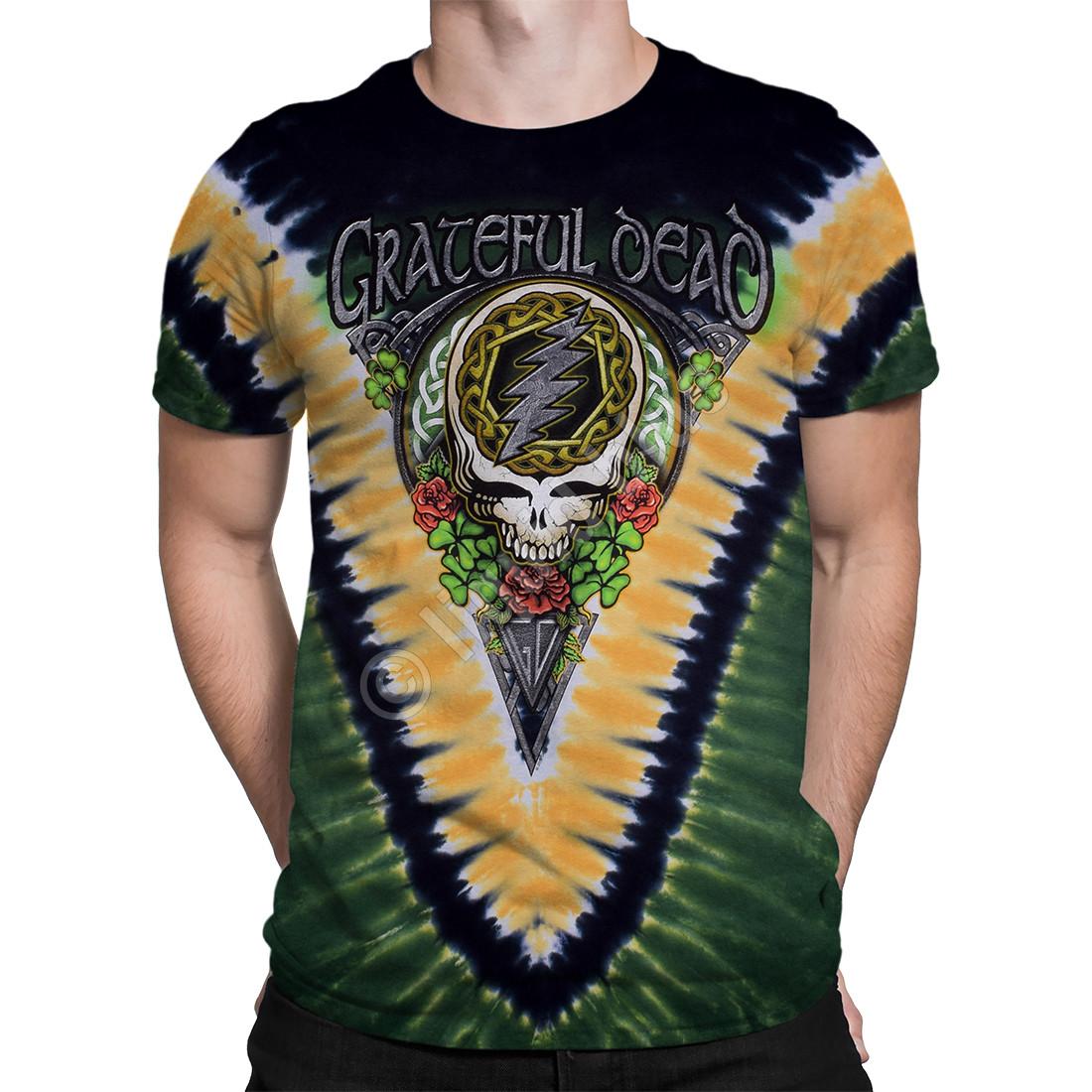 GD Shamrock V Tie-Dye T-Shirt