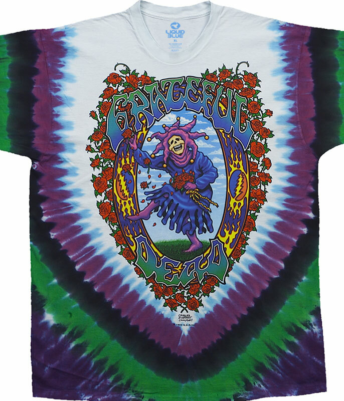 Grateful Dead Seasons Of The Dead Tie-Dye T-Shirt Tee Liquid Blue