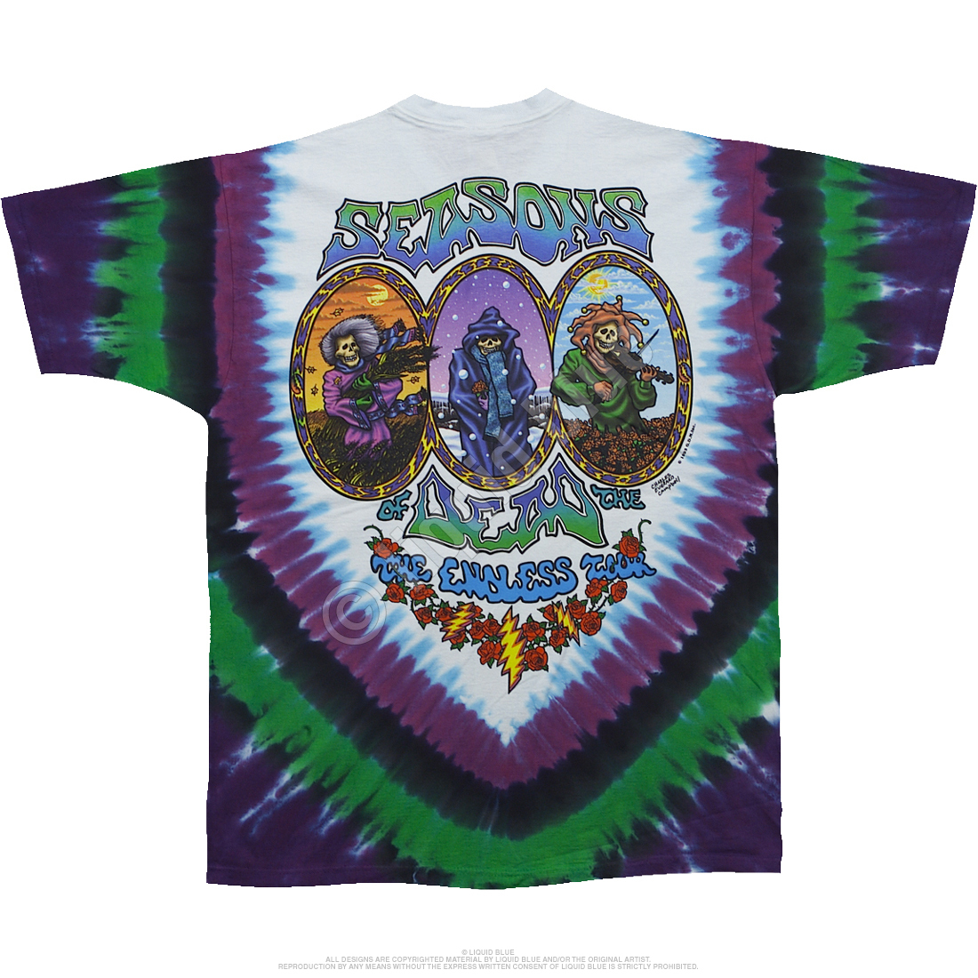 Seasons Of The Dead Tie-Dye T-Shirt