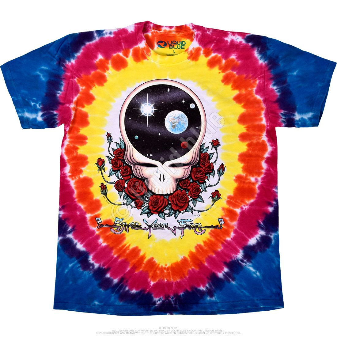 Space Your Face Tie-Dye T-Shirt